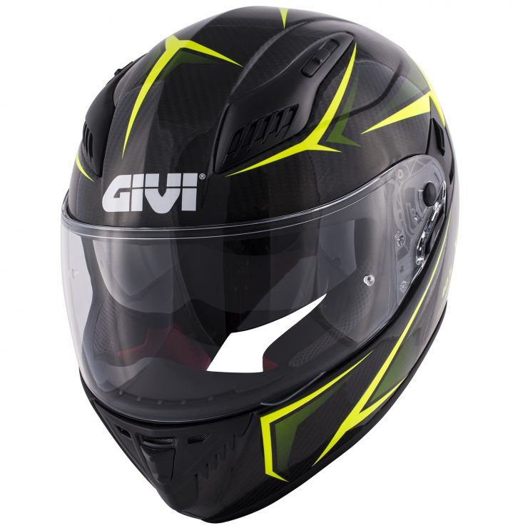 casco integrale givi 40-5 x carbon 2017 giallo fluo