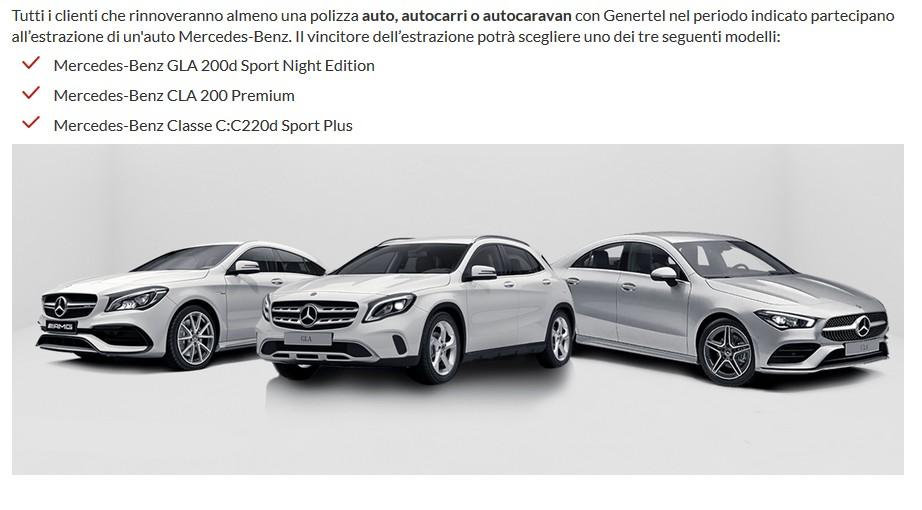 E non dimenticate di rinnovare anche la polizza auto: per voi un premio Mercedes!