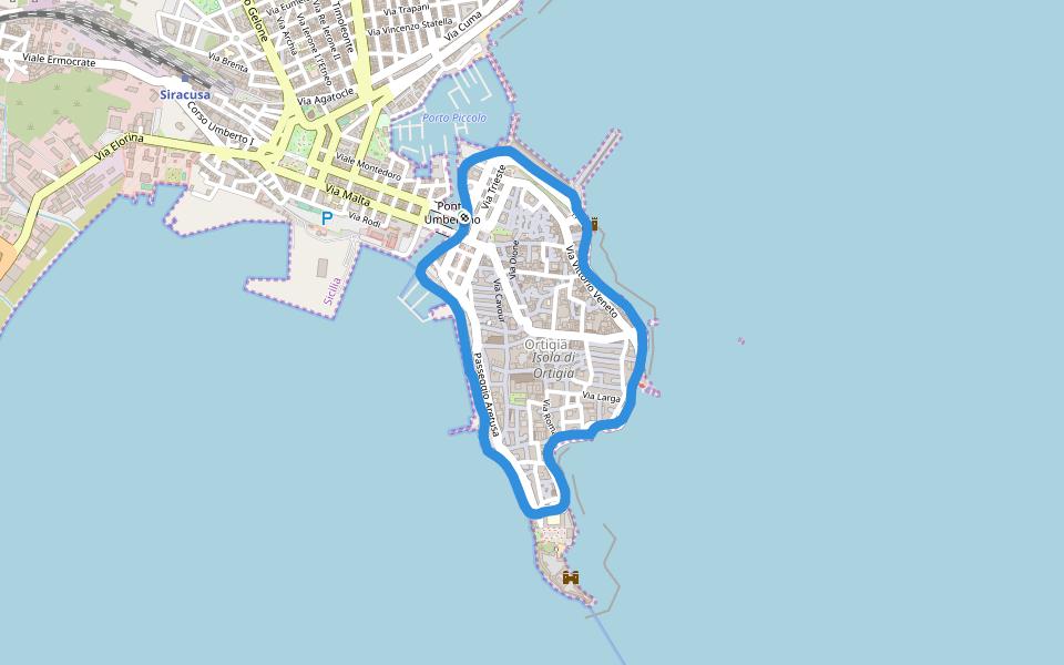 Tracce su un'isola, Ortigia